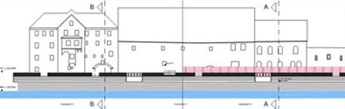 Planung Hochwasserschutzwand
